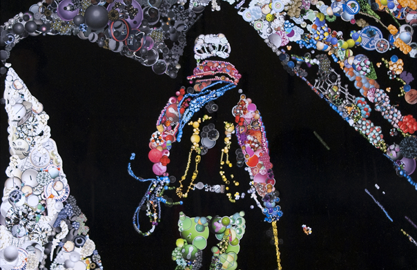Climber #1, 山下耕平, 2008年, コート紙にコラージュ, 970 x 785 mm
