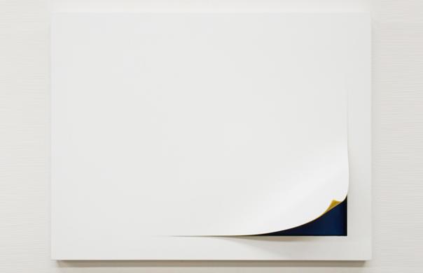peekaboo -kiiro-, 待場崇生, 2010年, 樹脂、木、 塗料, 324 x 412 x 96 mm