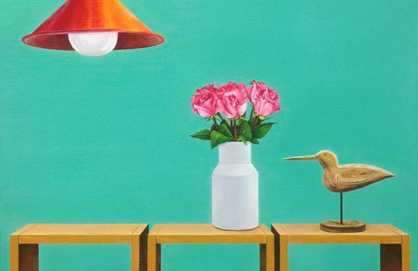 Home(部分), イ・ギョンウク,  2014年, キャンバスにアクリル,  727 × 530 mm