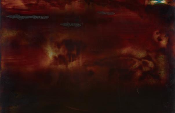 afterimage アイドル, 佐々木友恵, 2013年, 木製パネルに漆, H 350 × W 430 × D 20 mm 撮影:シュヴァーブ・トム