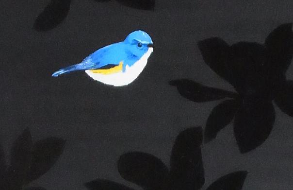 To regain the irreparable. -bird- (部分), 小林俊哉,  2014年, キャンバスにアクリル、油彩, 730 × 530 mm
