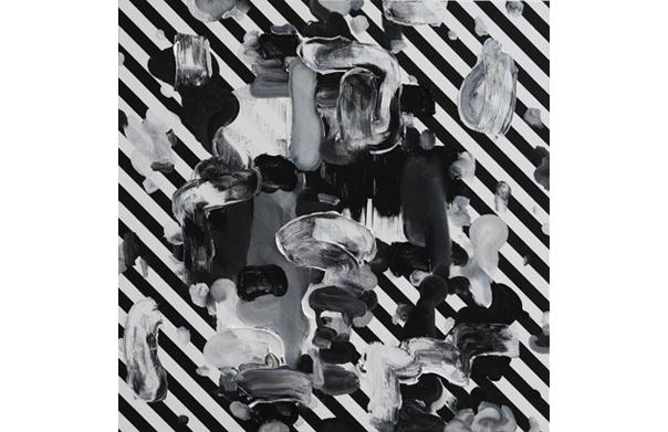 誰かが何か言っている。, 江川純太, 2014年, キャンバス、油彩, 530 x 530 mm 撮影・和田高広