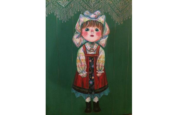 Lothian girl, 角田美友, 2015年, キャンバスにアクリル, 900 x 730 mm