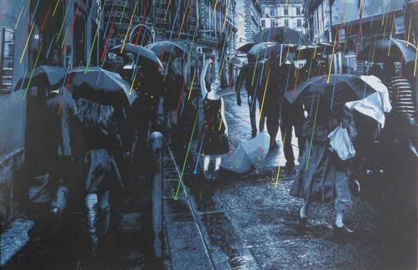 エモーショナル・レイン, ロームカウチ, 2015年, ステンシル、スプレーペイント、キャンバス, 1170 x 800 mm