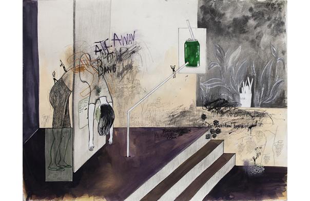 Dystopia, スン・ミンジュ, 2015年, ミクストメデイア、紙, 600 x 800 mm