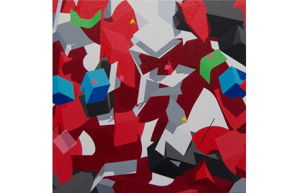 Yes, 杉山卓朗, 2015年, アクリル、キャンバス, 330 x 330 mm